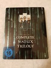 Matrix Trilogy STEELBOOK Blu Ray (German) Limited Edition RARE SOLD OUT SEALED