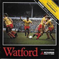 Football Programme>WATFORD v SOUTHAMPTON Jan 1983