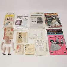 Vtg Doll Making Clothes Patterns Lot Magazines Head Arms Legs Parts