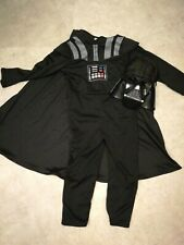 Boys Darth Vader star wars Fancy dress costume outfit halloween age 4-5
