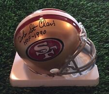 BOB ST. CLAIR AUTOGRAPH SAN FRANCISCO 49ERS MINI HELMET HOF GTSM STICKER