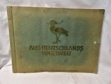Vintage Stamp Collector Book Antique Bird Watching Aus Deutschlands German