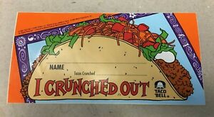 "VTG 90s Taco Bell Rocky & Bullwinkle I Crunched Out Sticker 6"" Fast Food 1993"