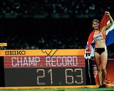 Dafne SCHIPPERS Autograph Signed Photo AFTAL COA Beijing Olympics Heptathlon
