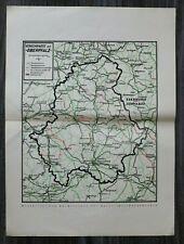OPF A) Karte Bayern Oberpflaz Verkehrswege Straßen Eisenbahn Neubauprojekte 1928