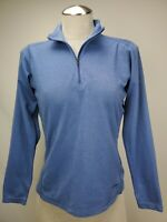 Patagonia Capilene Womens Half Zip Base Layer Top Medium Blue Midweight Pullover