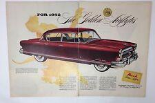 Original Print Ad 1952 NASH Golden Airflyte Ambassador Custom  Red 2 Page Art