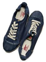 Sorel Men's 10 Sentry Blue Canvas Suede Sneakers NM1690-439 Duck Toe