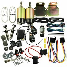 Street Rat Hot Rod 2 Door Shaved Handle Popper Solenoid Kit 100 LB With Relay