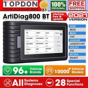 TOPDON ArtiDiag800BT MK808 OBD2 Scanner Auto Car Diagnostic Scan Tool Key Coding