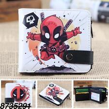 Marvel Comics X-Men Deadpool  Leather Wallet Coin Short Purse Handbag Wallet