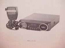 1977 REGENCY CB RADIO SERVICE SHOP MANUAL MODEL CB-501