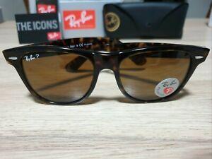 50mm Ray-ban Wayfarer *Defect* Polarised Tortoiseshell Brown Sunglasses  902/57
