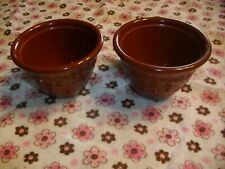 2 Vintage Ts&T genuine oven serve brown custard dishes