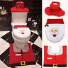 Merry Christmas Toilet Seat Cover Santa Claus Bathroom Mat Christmas Home Decor