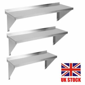 Commercial Catering Stainless Steel Shelves Kitchen Wall Shelf 600 - SS