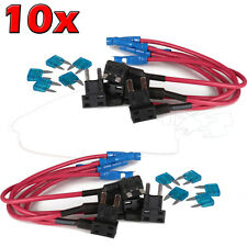 10 x 15A Add Circuit Mini Blade Fuse Boxe Holder ACS ATO ATC Piggy Back Tap US