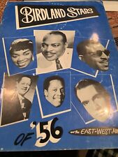 Program Birdland Starscof 1956 Rare