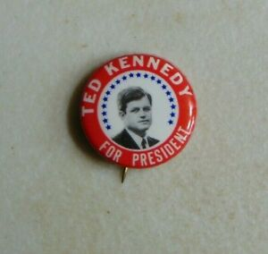 Ted Kennedy EMK 1968 campaign pin button political