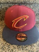 NBA Cleveland Cavaliers New Era 59Fifty 2-Tone Fitted Cap NBA Hat 7-5/8 *