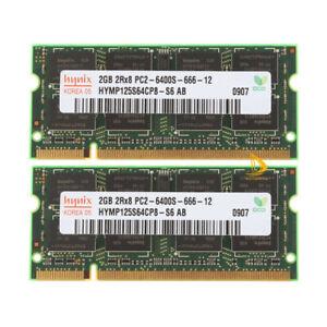 Hynix 8GB 4GB 2GB 2RX8 DDR2 800MHz PC2-6400S SODIMM Laptop RAM Memory 200Pin LOT