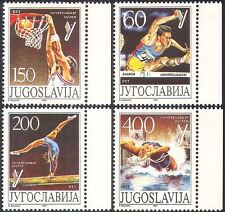 Yugoslavia 1987 Deportes/Universidad Juegos/basketball/Gimnasia 4v Set (n42463)