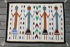 "Vintage Native American Navajo Yei Rug 43"" x 30-1/2"""