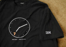 IBM 7 Seven Years Eleven versions clock design black t shirt IBM.COM