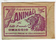 bustina figurine packet pochette ANIMALI DI TUTTO IL MONDO ROSSO NEW