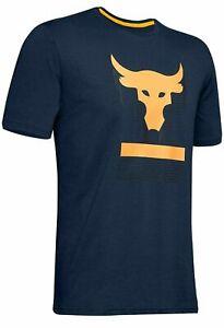 Under Armour Men's Project Rock Short Sleeve T-Shirt, Academy Blue 408
