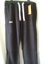 "NEW£50 SUPERDRY LARGE 34"" WAIST VINTAGE BLACK ORANGE LABEL SLIM HEEL POP JOGGERS"