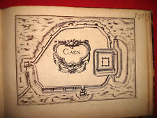 CARTE MAP PLANS NORMANDIE CAEN Lot de 2 cartes de 1631