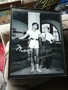 Muhammad Ali & Angelo Dundee Autographed PSA/DNA In The Presence 1962 8x10 Photo