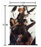 Anime Haikyuu high school volleyball Wall Poster Scroll Home Decor Cosplay 425