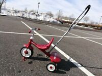 """Radio Flyer Steer and Stroll Trike Red Tricycle, 14"""" x 24"""" x 9"""""""