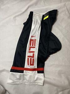 Nike Elite Basketball Shorts Men's CV4888 010 Black White Red Size Extra Large