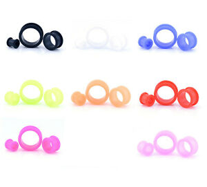 Flexi Silicone Ear Flesh Tunnel Stretcher Taper Plug Earlet 4mm - 24mm