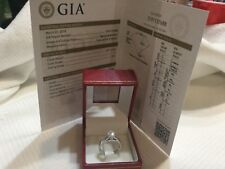14k white gold and GIA certified diamond engagement ring ..71