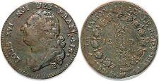 LOUIS XVI  12 DENIERS  1792 L AN 4  BB STRASBOURG G.15 MDC