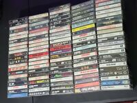Lot of 110 Glam Hair Thrash Metal Rock n Roll Cassettes Motley Crue KISS ACDC