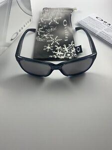Oakley Forehand Black Snowflake Chrome Iridium+Box OO9179-21 Womens NEW RARE