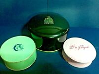 (3) Vintage Womens Dusting Powders Containers Decorative Cosmetic Lanvin Paris