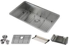 16 Gauge Stainless Steel Undermount Kitchen Sink Grid Strainer Package 32 Inch