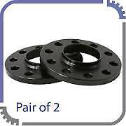 Hubcentric Black 15mm Alloy Wheel Spacers  Audi A5 All Models 5x112 66.6 - Pair