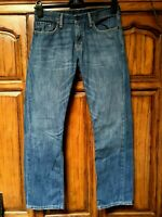 Vintage Levi's 514 Jeans Straight Leg Distressed Faded acid Punk Denim 31 x 31