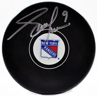 Adam Graves Signed Puck New York Rangers Official Hockey Puck COA
