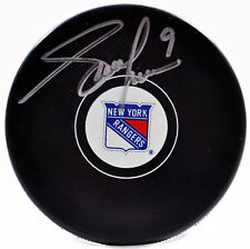 Adam Graves Autographed Signed New York Rangers Official Hockey Puck w/COA