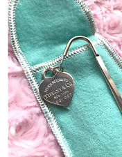 NEW Return to Tiffany Bookmark Sterling Silver with Pouch & Box GIFT