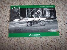 2011 Honda CRF70F Motorcycle Factory User Guide Owner Owner's Manual ORIGINAL