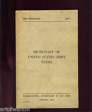 DICTIONARY OF UNITED STATES ARMY TERMS: AR 320-5  Jan 1961  sb